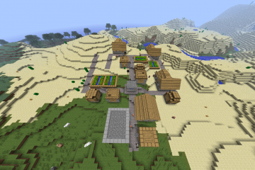minecraft-diamond-village