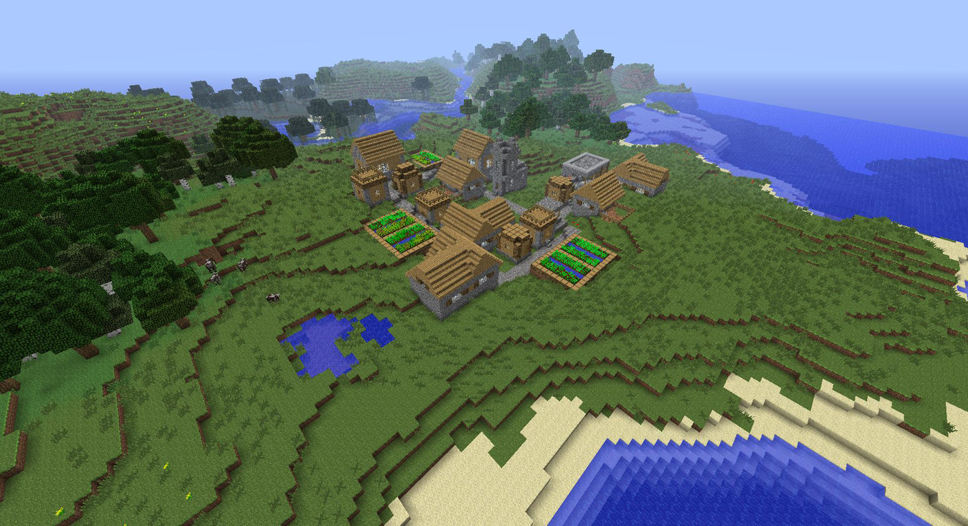 Minecraft Village Garden japanese style - minecraft seeds