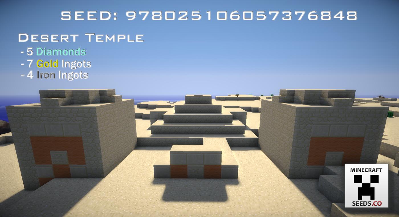 Desert Temple with Five Diamonds -